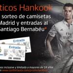Compra neumáticos Hankook y consigue camisetas y entradas del Real Madrid